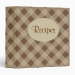 Carpeta de la receta de la guinga de Brown