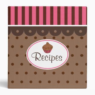 Carpeta de la receta de la magdalena del chocolate