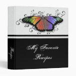 Carpeta de la receta de la mariposa del arco iris