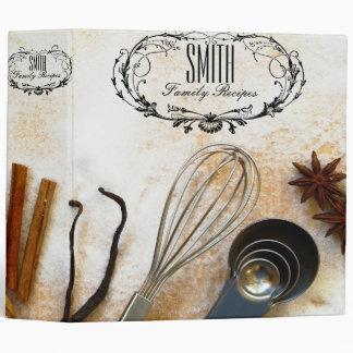 Carpeta de la receta de las especias y de los