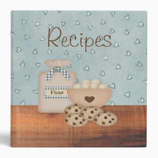 Carpeta de la receta de las galletas de microproce
