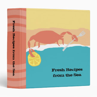 Carpeta de la receta de los mariscos de la