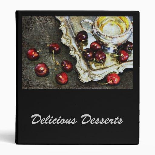 Carpeta de la receta de los postres de Deliscious