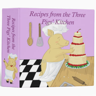 Carpeta de la receta de tres cerdos