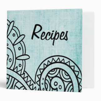 Carpeta de la receta del adorno de Mehndi de la