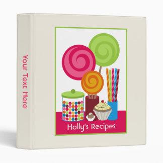 Carpeta de la receta del caramelo y de los dulces