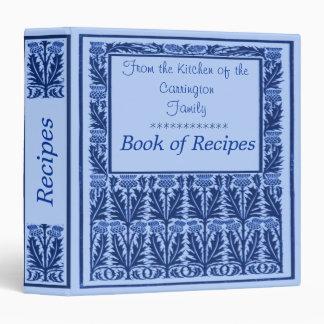 Carpeta de la receta del cardo azul