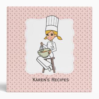Carpeta de la receta del cocinero de novato de la