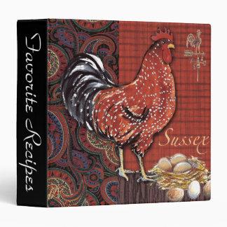 Carpeta de la receta del gallo