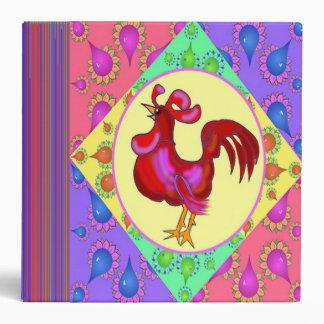 Carpeta de la receta del gallo del país
