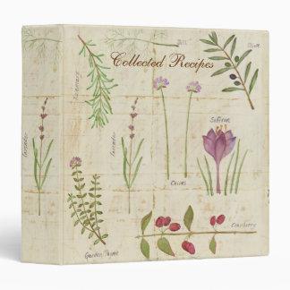 Carpeta de la receta del jardín botánico