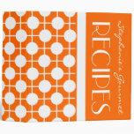 Carpeta de la receta del lunar del naranja y del b