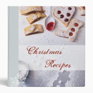 Carpeta de la receta del navidad