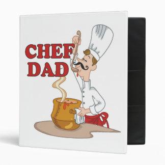 Carpeta de la receta del papá del cocinero
