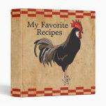 Carpeta de la receta del pollo del vintage