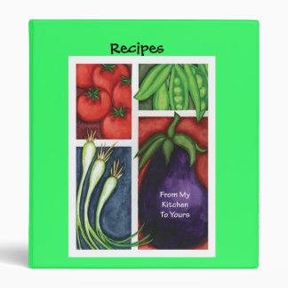 Carpeta de la receta del Veggie