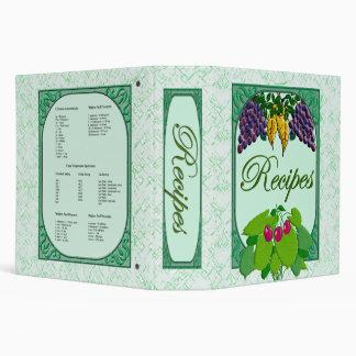 Carpeta de la receta del viñedo