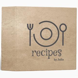 Carpeta de la receta del vintage