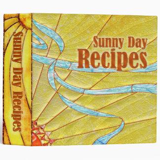 Carpeta de la receta - día soleado