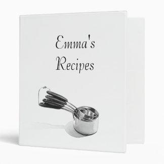 Carpeta de la receta, utensilios de la acuarela