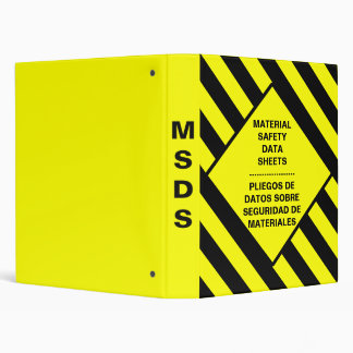 Carpeta de la seguridad de MSDS