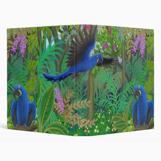 Carpeta de la selva del Macaw del jacinto