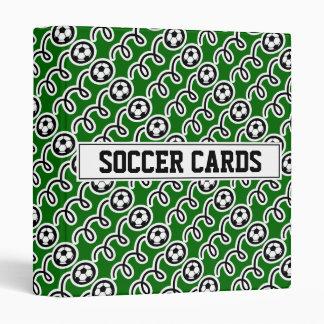 Carpeta de la tarjeta del fútbol para el colector