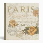 Carpeta de la torre Eiffel de los rosas de París