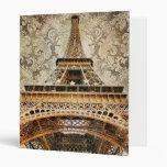 Carpeta de la torre Eiffel del vintage