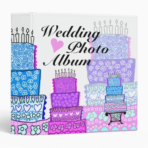 Carpeta de la torta del álbum de foto del boda