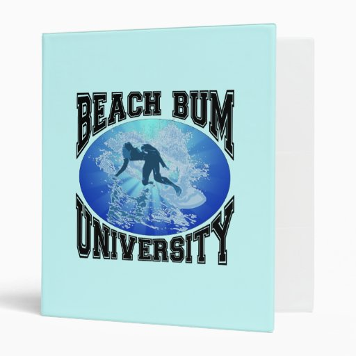 Carpeta de la universidad del vago de la playa
