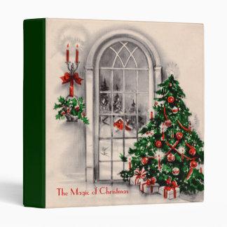 Carpeta de la ventana del navidad del vintage