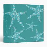 Carpeta de las estrellas de mar de la aguamarina d