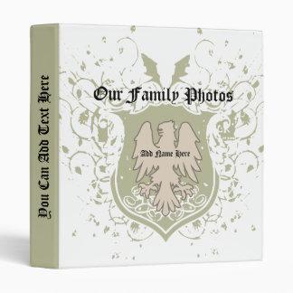 Carpeta de las fotos de familia del escudo de