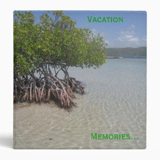 Carpeta de las memorias de las vacaciones