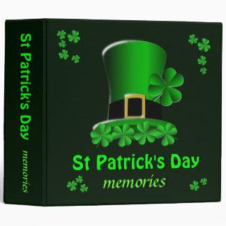 Carpeta de las memorias del día de St Patrick Carpeta 5 Cm