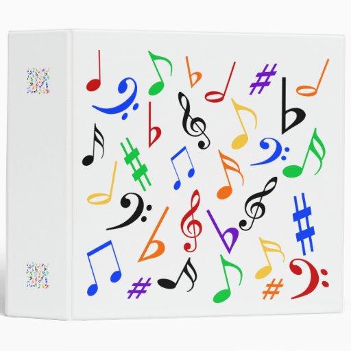 Carpeta de las notas musicales - multicolora