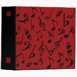 Carpeta de las notas musicales - rojo