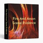 Carpeta de las pruebas de la escena del fuego y de
