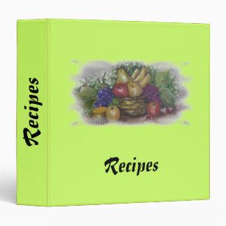 carpeta de las recetas