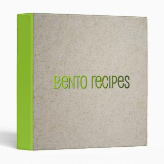 Carpeta de las recetas de Bento