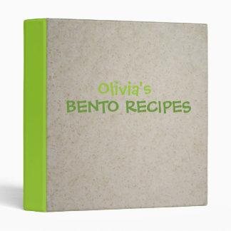 Carpeta de las recetas de Bento - personalizable