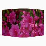 Carpeta de las recetas de la abuela con las azalea