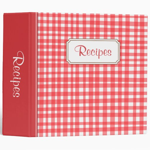 Carpeta de las recetas de la cocina con guinga