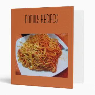 Carpeta de las recetas de los espaguetis