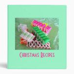 Carpeta de las recetas del navidad