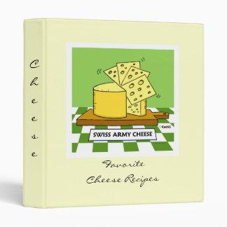 Carpeta de las recetas del queso con la cubierta