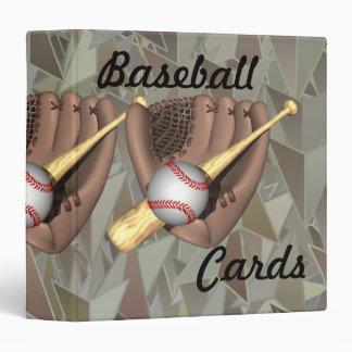 Carpeta de las tarjetas de béisbol