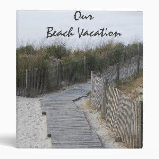 Carpeta de las vacaciones de la playa