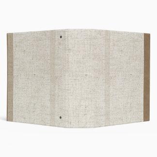 Carpeta de lino beige de Avery